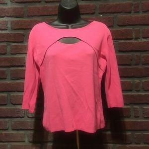 Joseph A. Pink Peekaboo Sweater